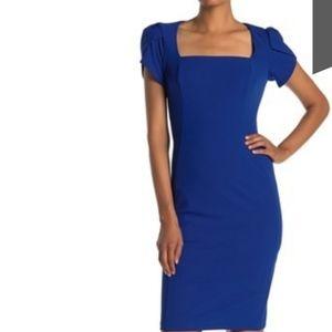 NWT-Womens Donna Morgan Short Sleeve Crepe Dress